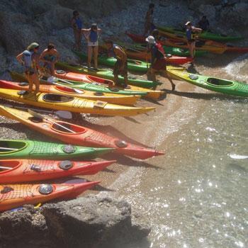 Kayak en familia en Formentera