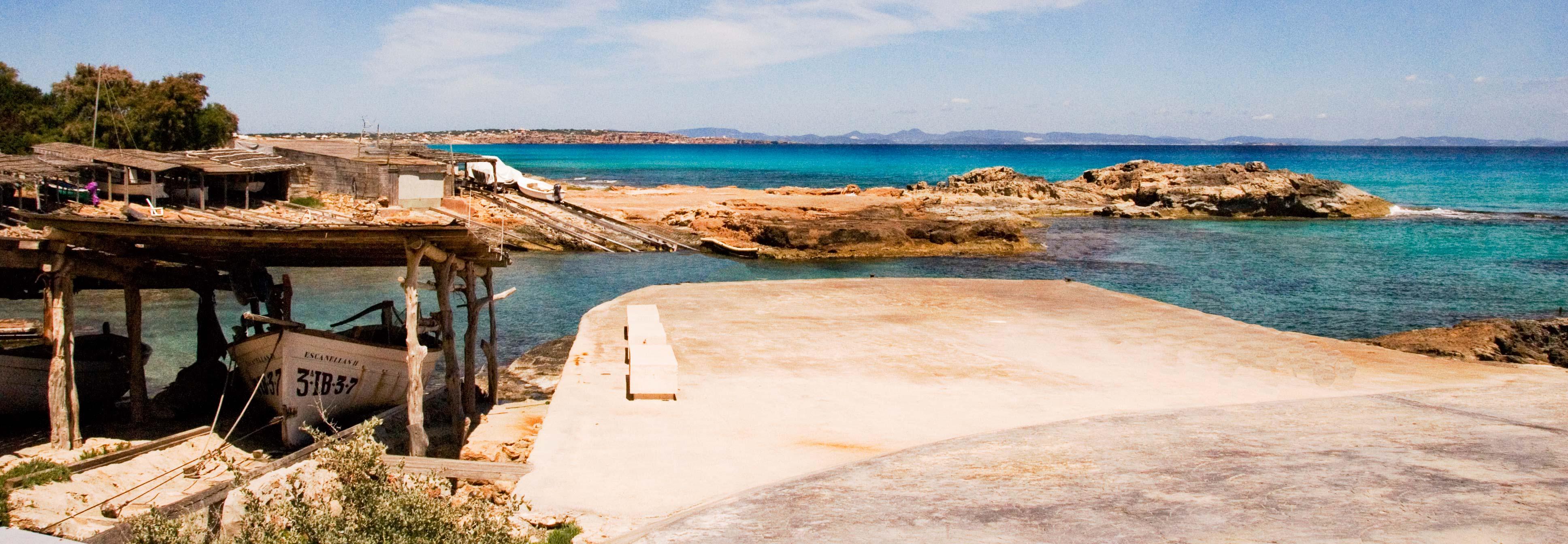 Es Caló de Sant Agustí en Formentera