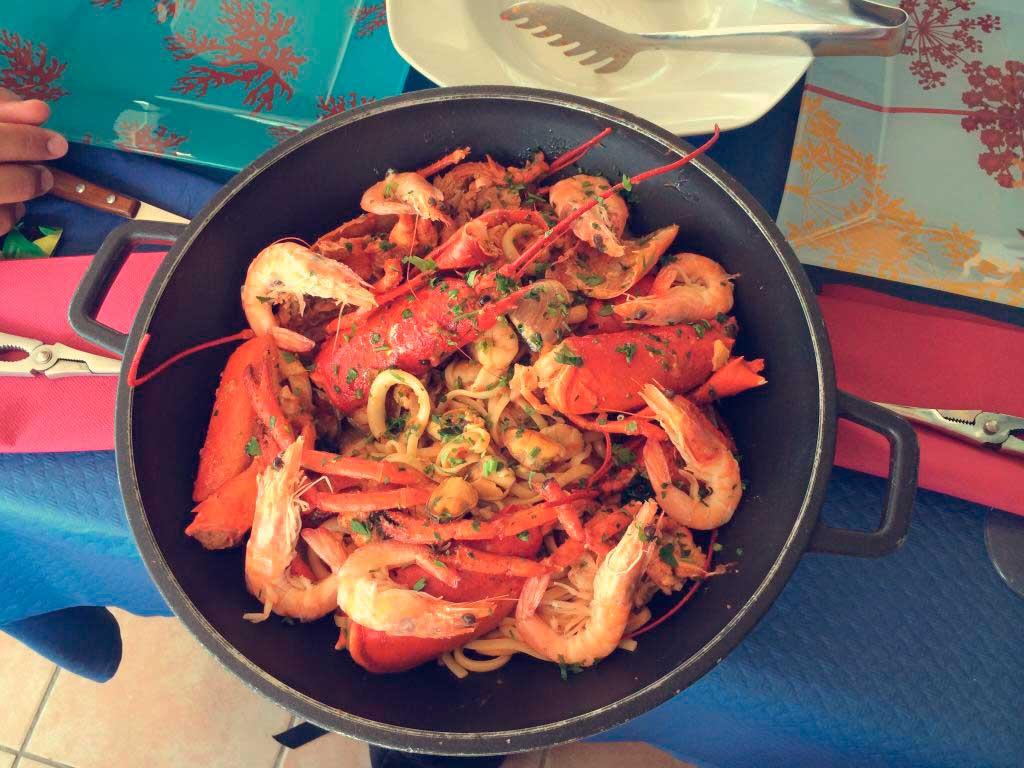 Tallarines del chef en Locanda Formentera