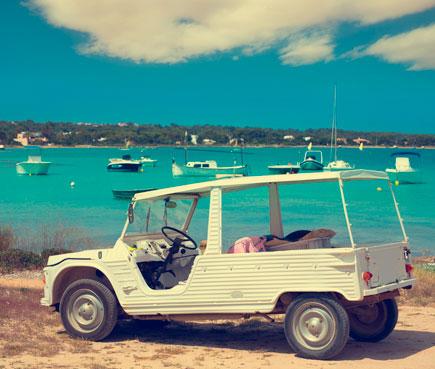 Alquiler de coche en Fomentera
