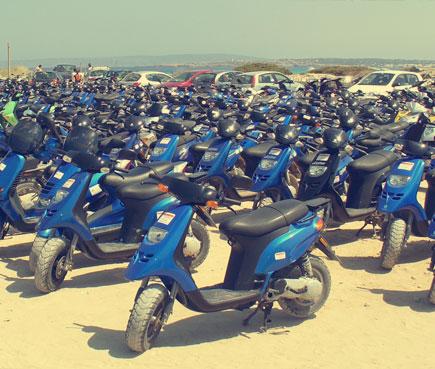 Alquiler de moto en Formentera