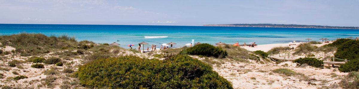Playa Es Arenals Formentera
