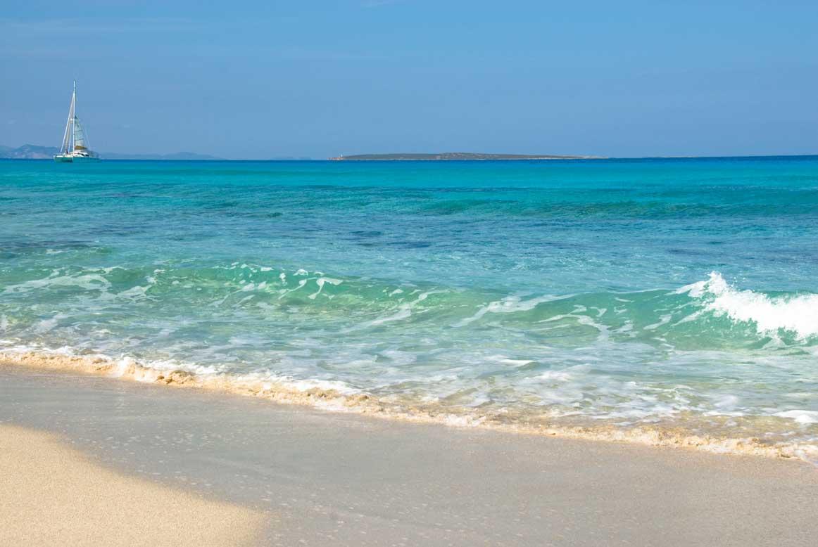 Playa Sa Roqueta en Formentera