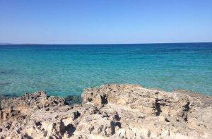 Rocas en Playa Sa Roqueta