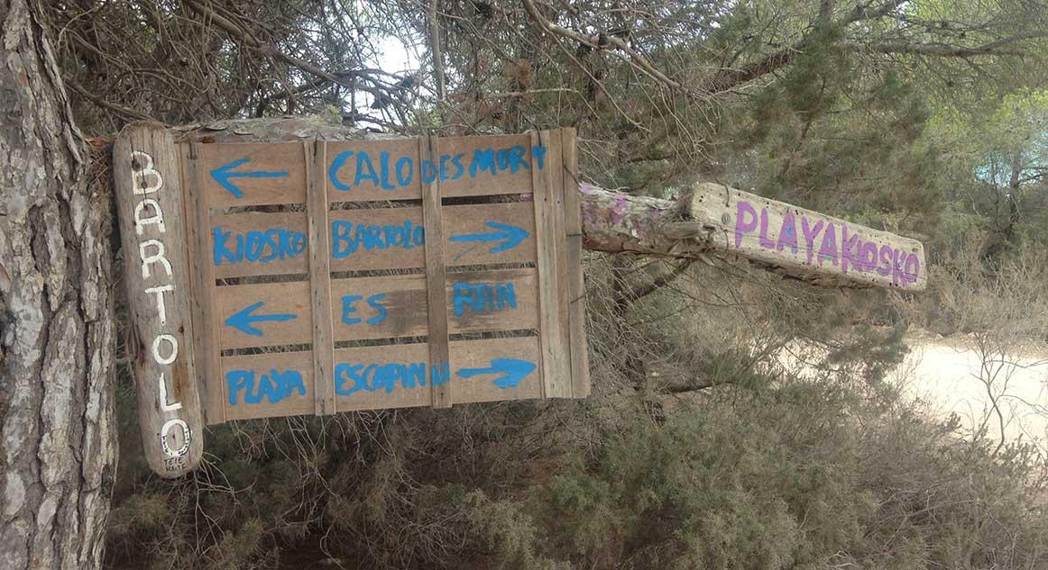 Cómo llegar a Es Caló des Morts en Formentera