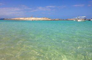 Playa de Es Pujols, en Formentera