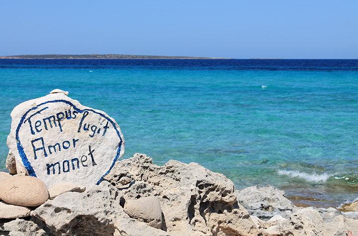 Paseo de Es Trucadors en Formentera