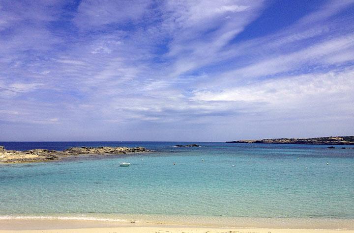 Piscina natural en Es Pujols, Formentera