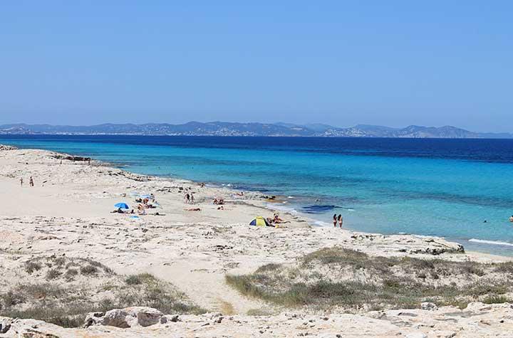 Playa de Es Trucadors en Formentera