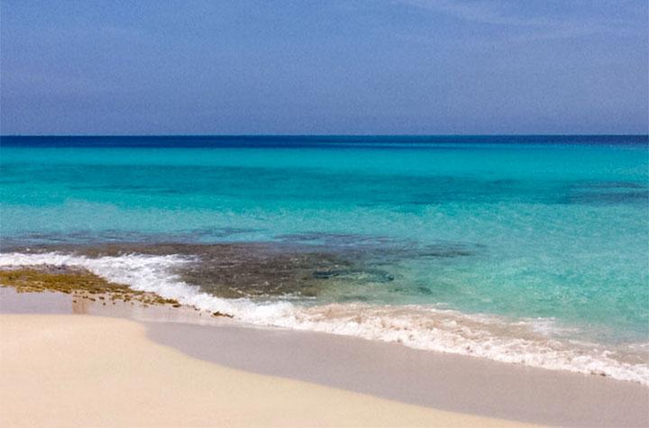Playa de Levante en Formentera salvaje