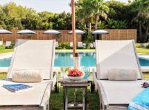 Hamacas en Hotel Gecko Beach Club Formentera