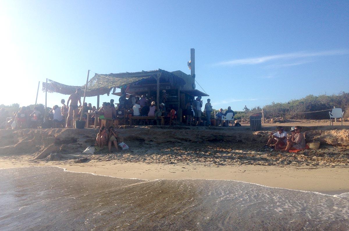 Kiosko 62 en la Playa de Migjorn