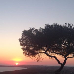 Puesta de sol en Restaurante El Mirador en Formentera