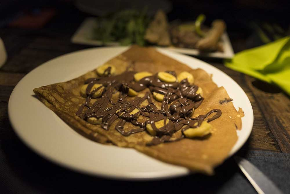 Crepe de chocolate en Restaurante Can Pepito