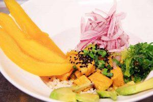 Ensalada de mango en Restaurante Can Pepito