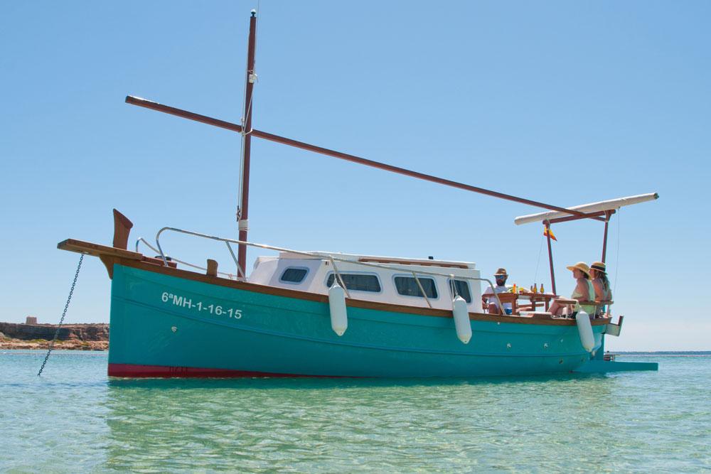 Alquiler de llaüts en Formentera