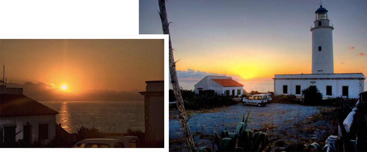 Faro de la Mola al amanecer