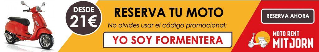 Reserva tu moto en Formentera