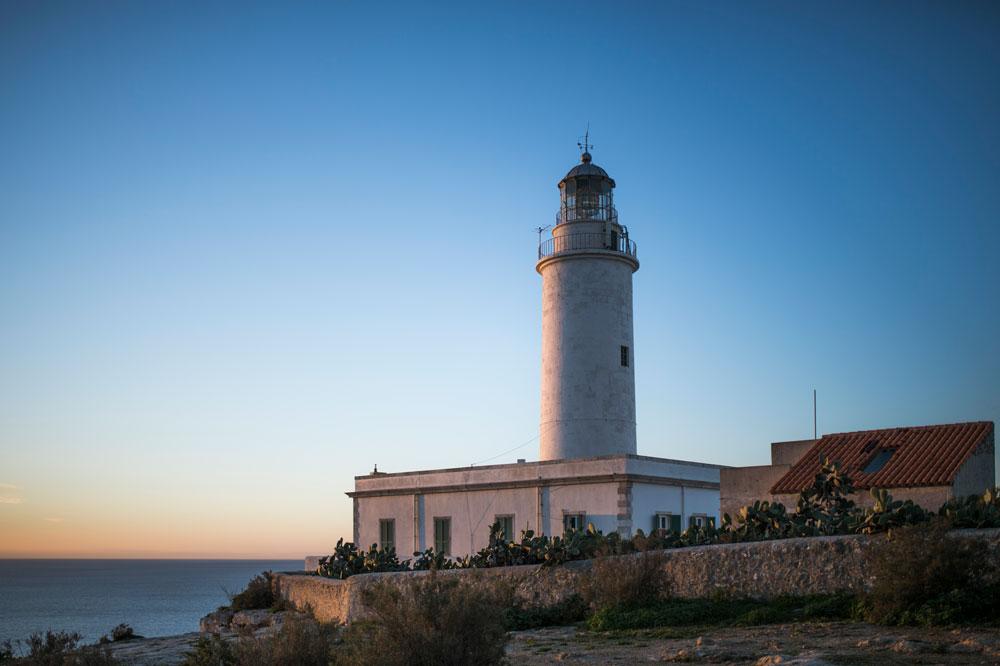La Mola lighthouse, sunrise in Formentera