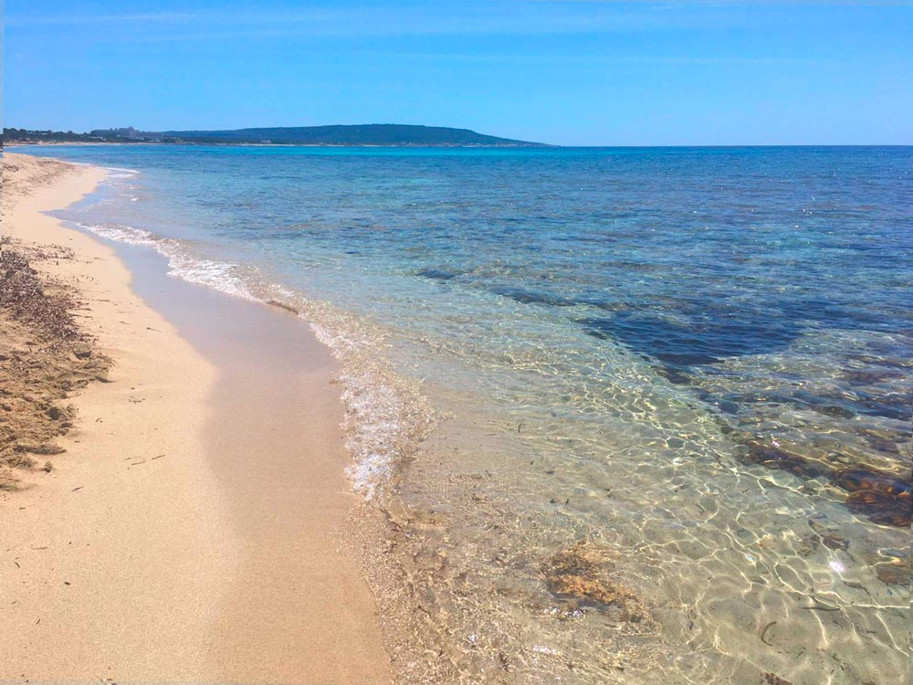 Playa Es Ca María en Formentera