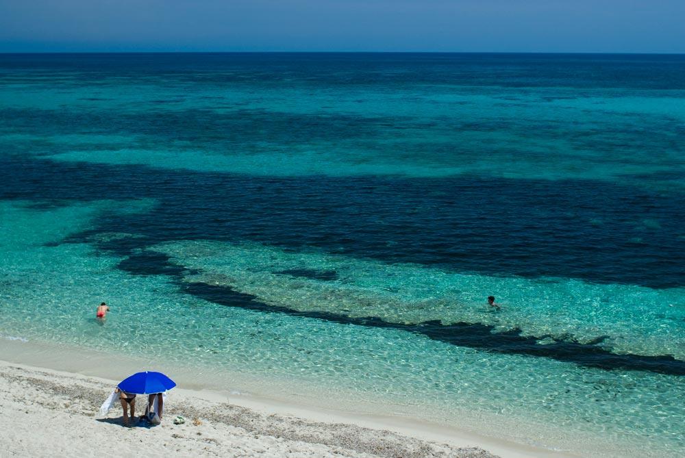 Vistas desde chiringuito Pelayo a la playa de Migjorn