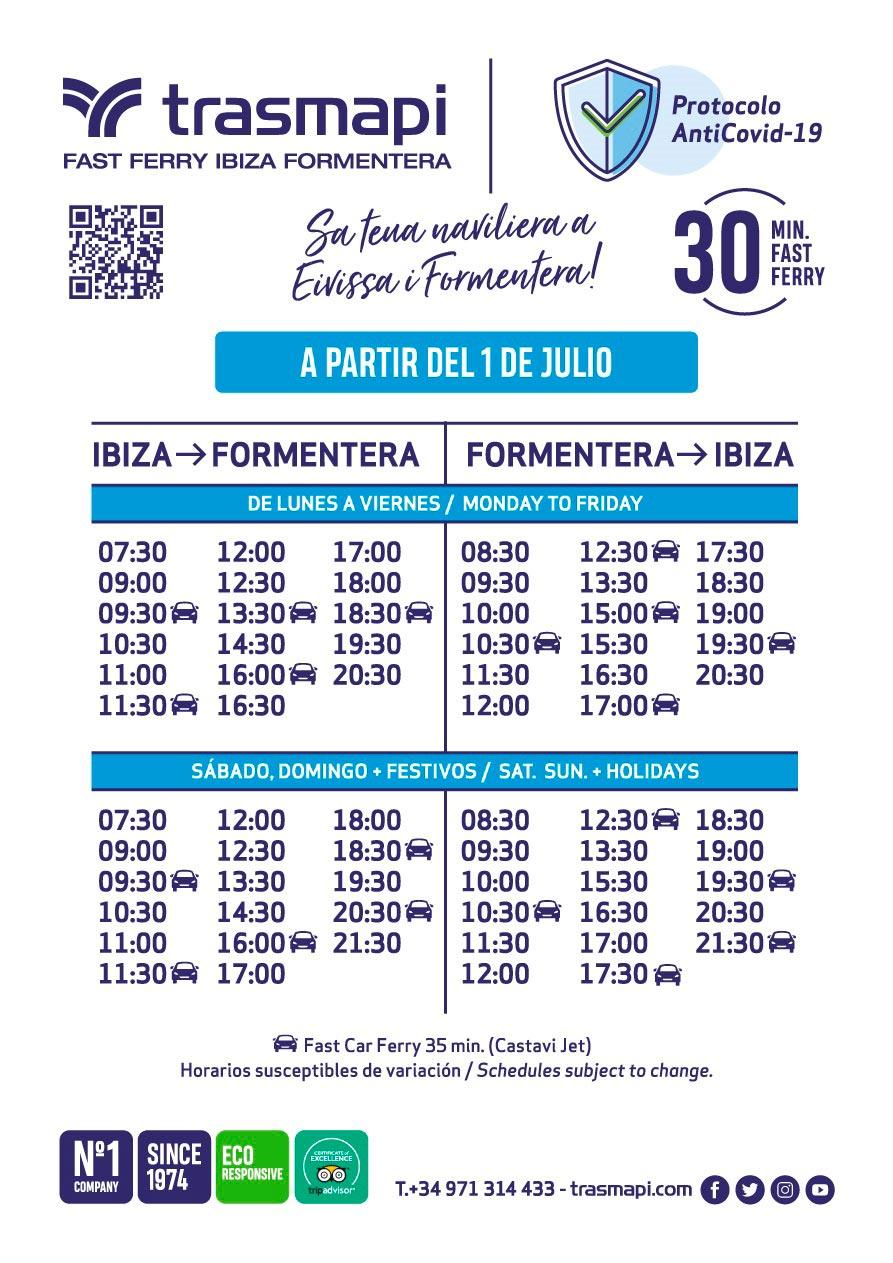 Horarios ferry ibiza Formentera