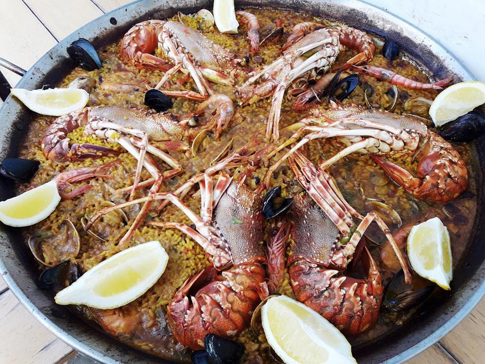 Paella de bogavantes en Restaurante Juan y Andrea